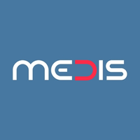 The logo of Medis which is g-events dmc | pco client.