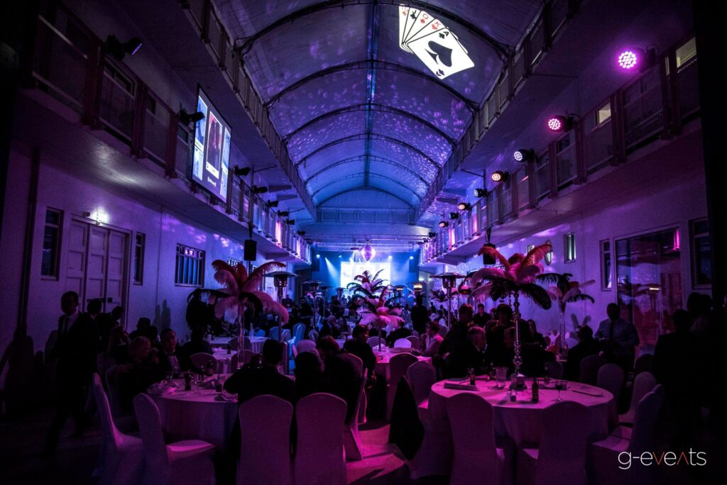 Casino theme gala dinner and party for an aluminium company at event planned by g-events dmc | pco.