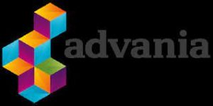 The logo of Advania which is g-events dmc | pco client.